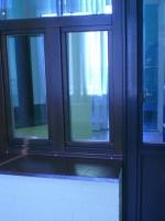 Образец-деревянный балконный блок